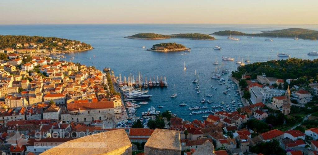 Panoramic view Hvar Town Croatia
